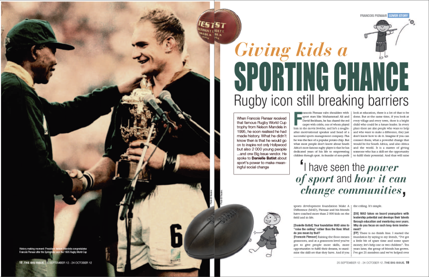 The interview in The Big Issue South Africa, 25 September 2012