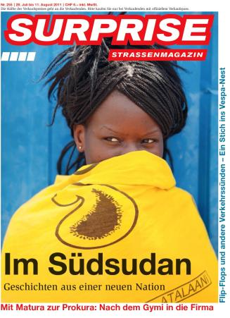 Seven page long cover story of Swiss magazine Surprise, 29 July 2011.