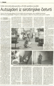 The story in Serbian daily newspaper Danas, 26 April 2012.