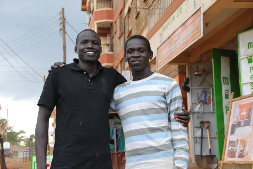 Brothers James and Peter Mabior lost each other during the war, reunited in Nairobi and went back to South Sudan together to vote for independence. Photo: Danielle Batist