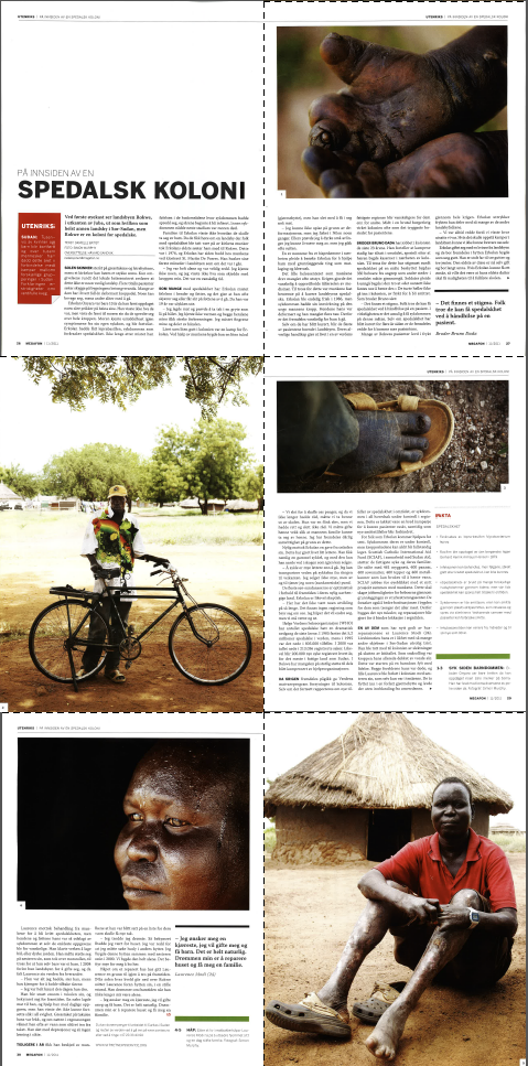 The story of the leprocy colony in Rokwe featured in Norwegian magazine Megafon in September 2011.