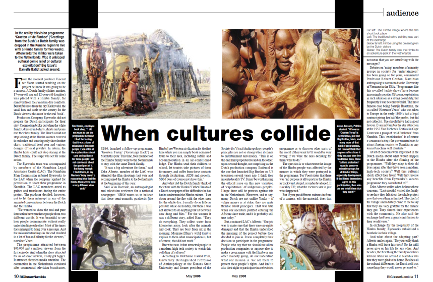 The story in The Big Issue Namibia, May 2006.