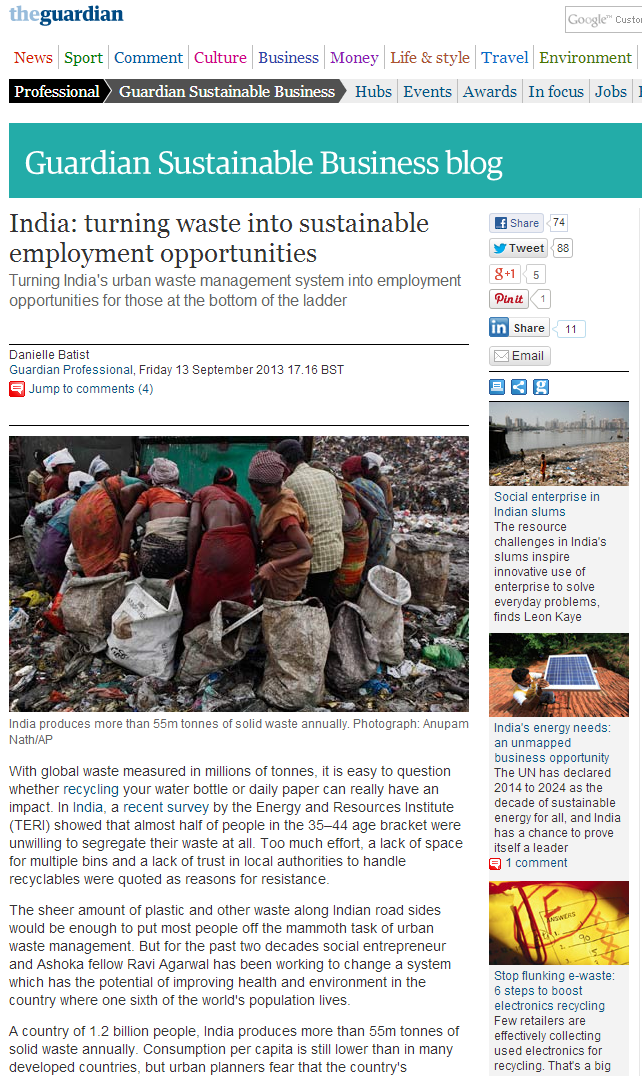 Guardian India Waste 2013